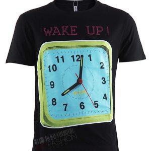 Мъжка тениска MOSCHINO- Black clock от MyFashionstore.eu
