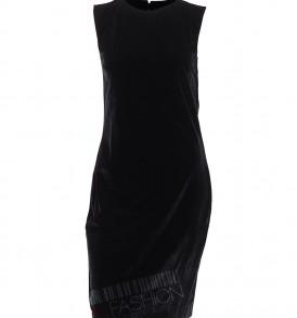 Черна велурена рокля Stella Capone от MyFashionstore.eu