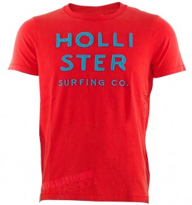 Tениска HOLLISTER- red- MyFashionstore.eu