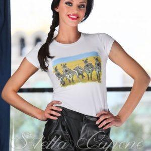 Тениска с дизайнерски принт -Zebras от MyFashionstore.eu