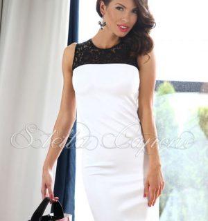 Елегантна бяла рокля от Stella Capone от MyFashionstore.eu