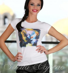 Тениска с дизайнерски принт Мерилин от MyFashionstore.eu