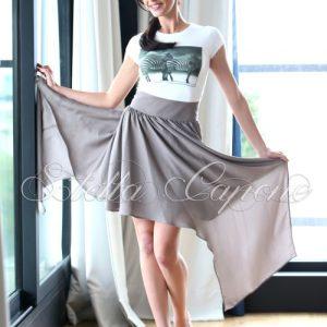 Тениска с дизайнерски принт -Grey zabras от MyFashionstore.eu