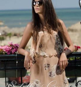 """Дълга рокля """"Цветна градина"""" от MyFashionstore.eu"""