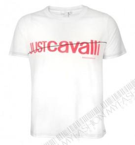 Мъжка тениска Just Cavalli в бял цвят от MyFashionstore.eu