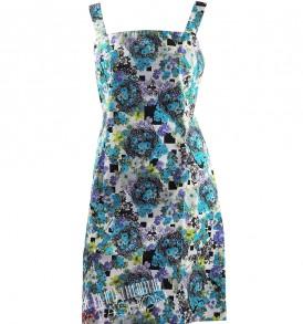 Дамска рокля Versace Jeans- blue flowers - MyFashionstore.eu