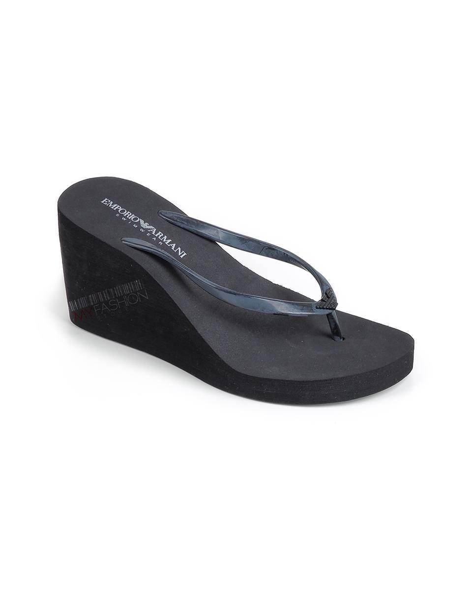 f8cf85a12b2a HomeShopWomenОбувкиЧехли EMPORIO ARMANI Platform slippers- black