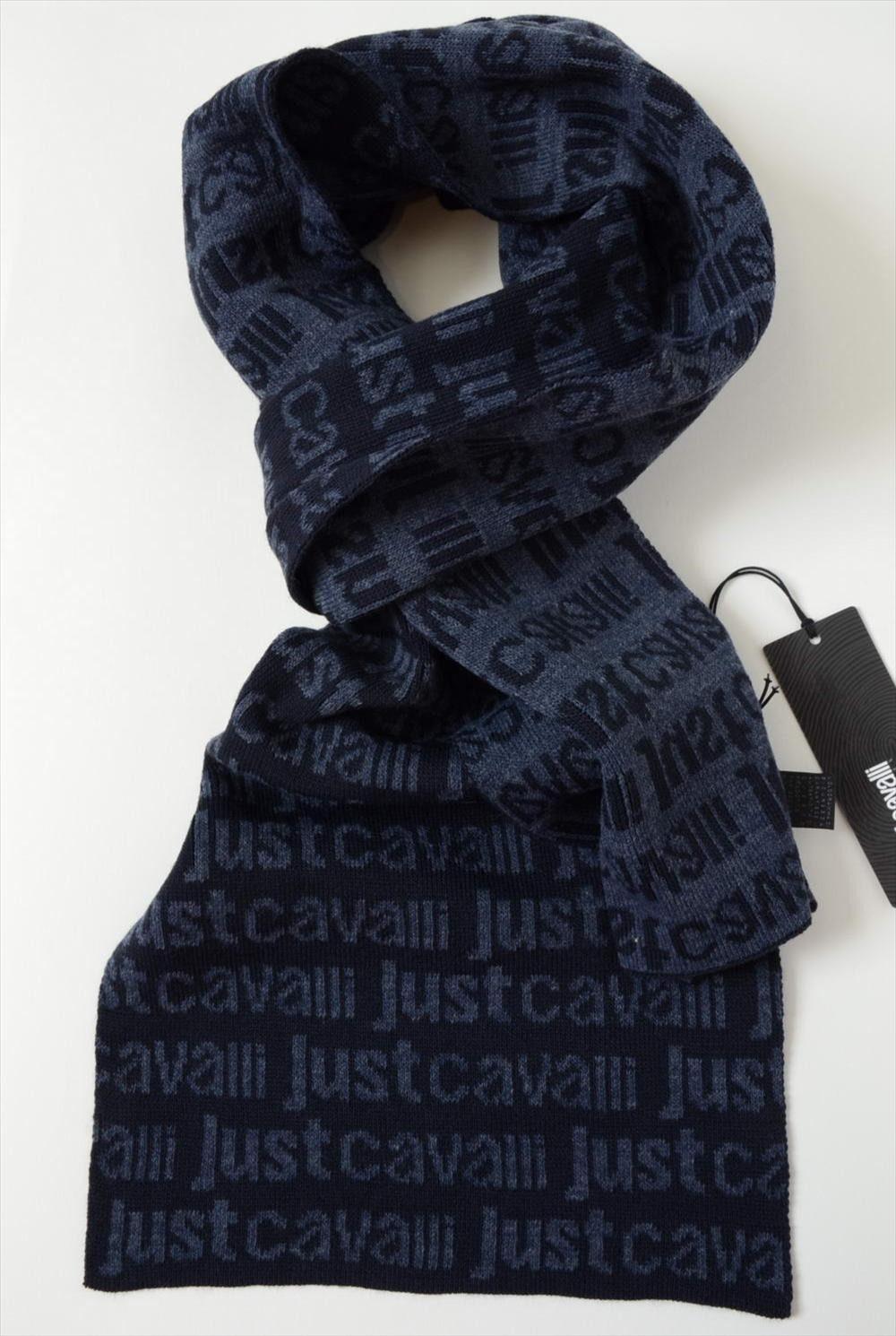 online store ffb61 ac37c Men's scarf JUST CAVALLI - blue