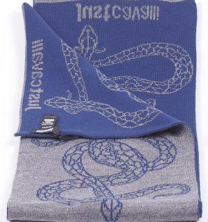 Мъжки шал JUST CAVALLI- grey/blue snakes- MyFashionstore.eu