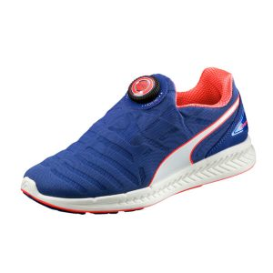 Маратонки PUMA IGNITE Disc Women's Running Shoes Маратонки Puma за бягане Удобна подметка в бяло Олекотени Диск Лого Оранжеви елементи Арт. номер: 18861704_01_PNA