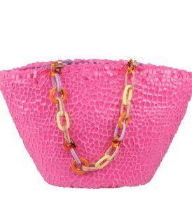 Плажна чанта Uzurii - Pink- myfashionstore.eu