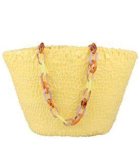 Плажна чанта Uzurii - Yellow- myfashionstore.eu