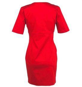 Червена рокля LOVE MOSCHINO - myfashionstore.eu