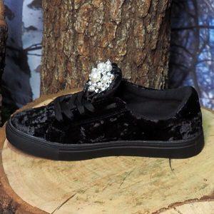 Велурени обувки с перли EXE - MyFashionstore.eu