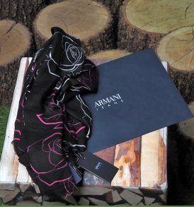 Дамски шал Armani Jeans- флорални мотиви - MyFashionstore.eu
