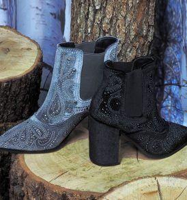 Обувки-боти Alma en Pena- Velvet grey - MyFashionStore.eu