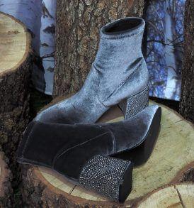 Обувки-боти Alma en Pena- Velvet grey 2 - MyFashionStore.eu