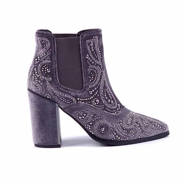 05a17956e Women s ankle boots Alma en Pena - velvet grey   black ...