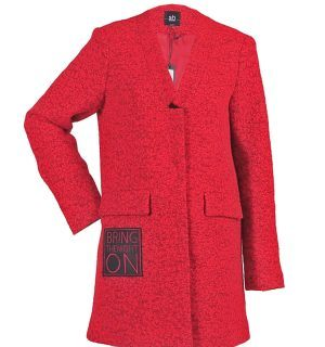 Червено палто Silvian Heach - MyFashionstore.eu