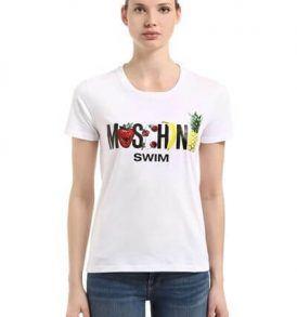 Тениска Moschino Fruit Logo Print - MyFashionstore.eu