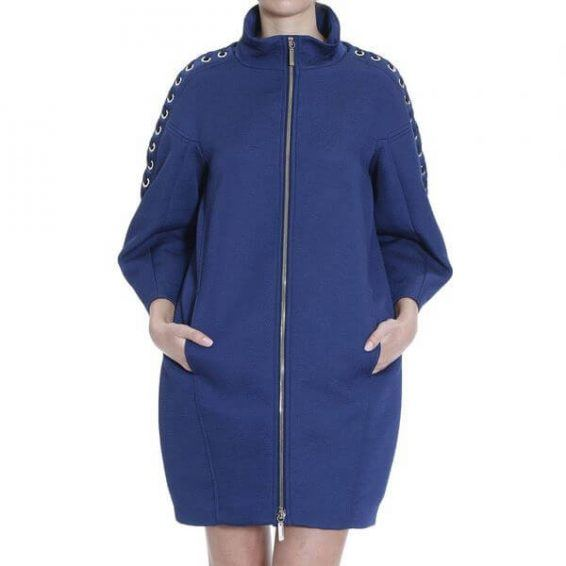 Синьо палто Elizabetta Franchi - MyFashionstore.eu