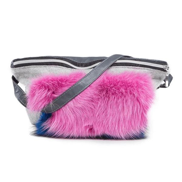937f2414147 Чанта с естествен косъм Gena- pink - MyFashionstore.eu