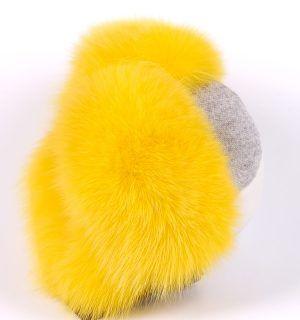 Шапка с естествен косъм Gena - MyFashionstore.eu