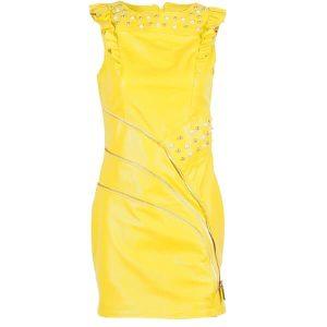 Кожена рокля Marpel - Yellow- MyFashionstore.eu