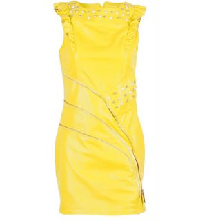 Кожена рокля Marpel - Yellow- MyFashionstore.eu