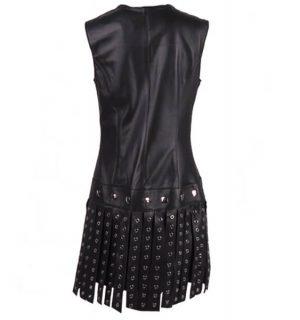 Кожена рокля Marpel - Black - MyFashionstore.eu