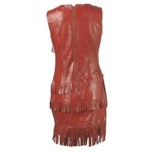 Кожена рокля Marpel - brown- MyFashionstore.eu