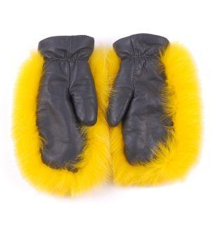 Ръкавици с естествен косъм Gena 4 - MyFashionstore.eu