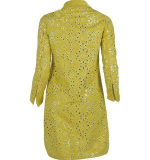 Дамско яке Kontessa- Lime Яка Закопчаване с копчета Флорални мотини на дупки Дълъг ръкав Лого Може да се комбинира с кецове от същата материя и цвят