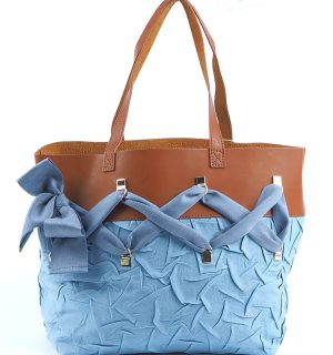 Дамскa чанта Kontessa- Blue&Brown