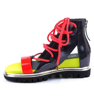 Сандали United Nude Rico Boot Neon Red + Disco - MyFashionstore.eu