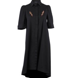 Черна памучна рокля Odi et Amo - MyFashionstore.euЧерна памучна рокля Odi et Amo - MyFashionstore.eu