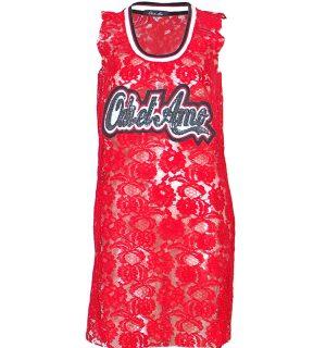 Червена дантелена рокля Odi et Amo - MyFashionstore.eu
