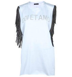 Бяла рокля-туника Odi et Amo - MyFashionstore.eu