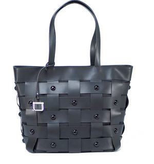 Черна кожена чанта INNUE' - MyFashionStore.eu