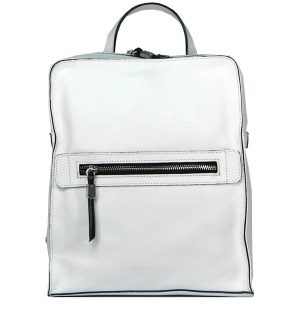 Бяла кожена раница INNUE' - MyFashionStore.eu