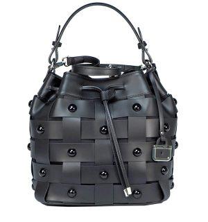 Черна кожена чанта INNUE' 2 - MyFashionStore.eu