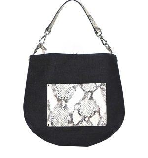 Двулицева чанта INNUE' - питонов принт - MyFashionStore.eu