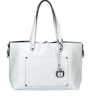 Бяла двулицева чанта INNUE'- MyFashionStore.eu