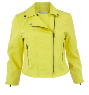 Кожено яке Silvian Heach yellow- MyFashionStore.eu