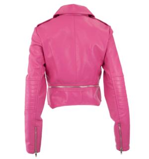Кожено яке Silvian Heach pink - MyFashionStore.eu