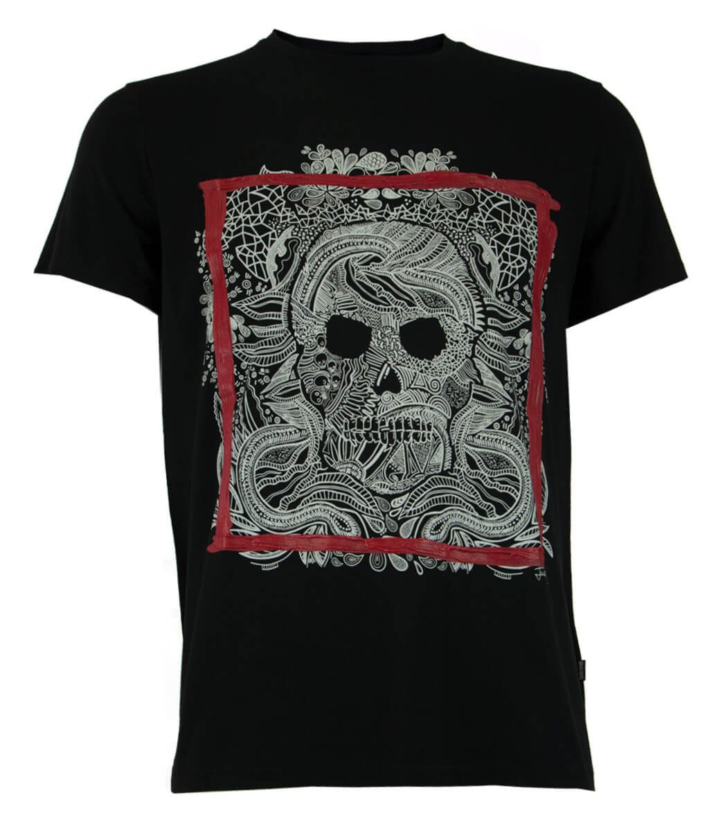 e090369f Men's T-Shirt Just Cavalli S01GC0499 Blk - MyFashionStore.eu