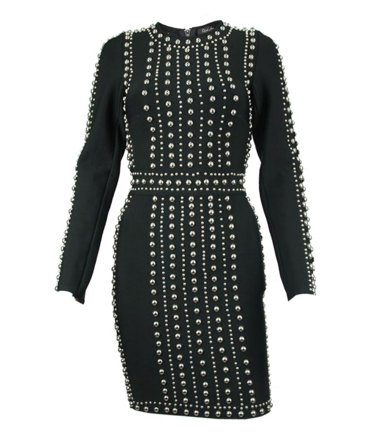 Елегантна рокля с капси Odi et Amo - MyFashionStore.eu