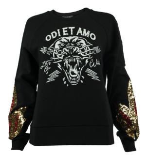 Черен суитчър Odi et Amo - MyFashionStore.eu