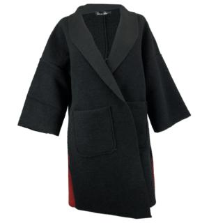 Черно палто Odi et Amo - MyFashionStore.eu