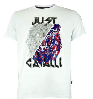 Мъжка тениска Just Cavalli s01gc0501 Wht - MyFashionStore.eu